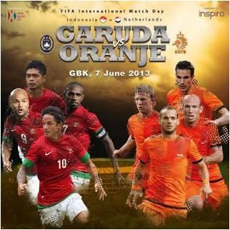 Prediksi Indonesia vs Belanda 07 Juni 2013 Ujicoba Antarnegara