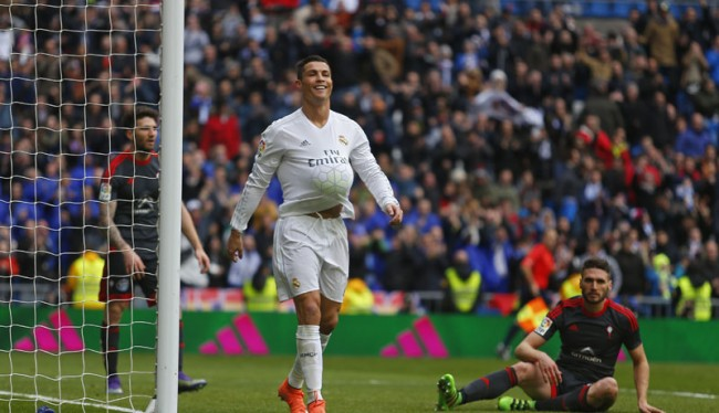 Ronaldo Mengamuk Bantai Celta Vigo 7-1